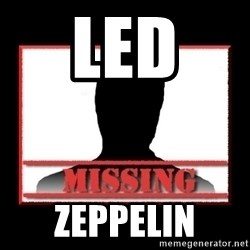 Missing person - led  zeppelin