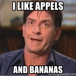 Sheen Derp - I like appels And bananas