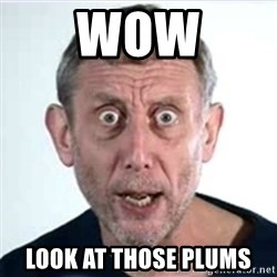 Michael Rosen  - WOW LOOK AT THOSE PLUMS