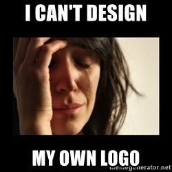 todays problem crying woman - I can't design My own logo