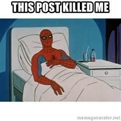 SpiderMan Cancer - This post killed me