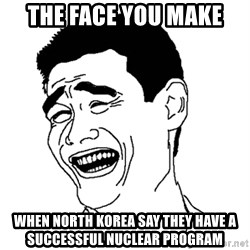Yaomingpokefarm - The Face you make  when North Korea say they have a successful nuclear program