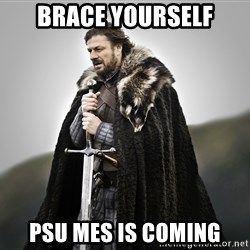 ned stark as the doctor - Brace yourself PSU MES is coming