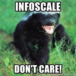 Honey Badger Actual - infoscale Don't care!