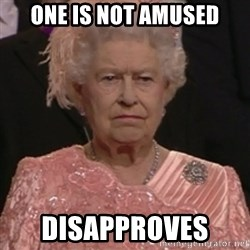 the queen olympics - One is not amused disapproves
