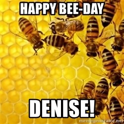Honeybees - Happy Bee-Day Denise!
