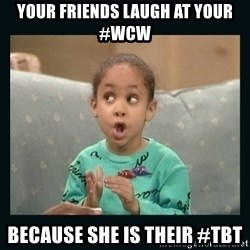Raven Symone - Your friends laugh at your #wcw because she is their #tbt