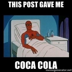 it gave me cancer - THIS POST GAVE ME COCA COLA