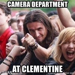 Ridiculously Photogenic Metalhead Guy - camera department  at clementine
