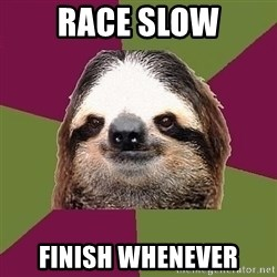 Just-Lazy-Sloth - race slow finish whenever