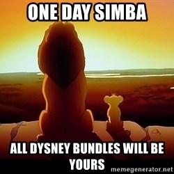 simba mufasa - ONE DAY SIMBA ALL DYSNEY BUNDLEs will be yours