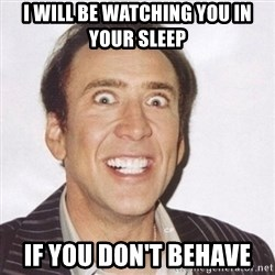 Creepy Smiling Cage  - I will be watching you in your sleep If you don't behave