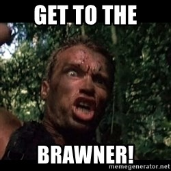 Arnie get to the choppa - get to the brawner!