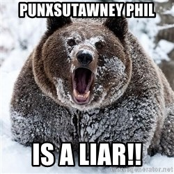 Clean Cocaine Bear - Punxsutawney Phil Is a LIAR!!