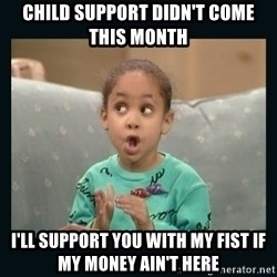 Raven Symone - Child support didn't come this month I'll support you with my fist if my money ain't here