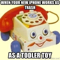 Sinister Phone - When your new iPhone works as trash As a Todler Toy