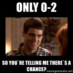 Lloyd-So you're saying there's a chance! - Only 0-2 So you`re telling me there`s a chance?