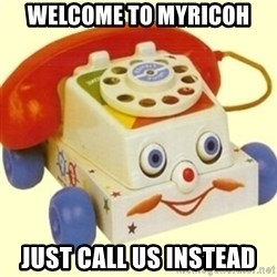 Sinister Phone - WELCOME TO MYRICOH JUST CALL US INSTEAD