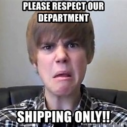 Justin Bieber 213 - Please Respect Our Department Shipping ONLY!!