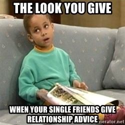 Olivia Cosby Show - The look you give When your single friends give relationship advice
