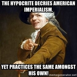 Joseph Ducreaux - the hypocrite decries american imperialism, yet practices the same amongst his own!