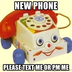 Sinister Phone - New phone Please text me or PM me