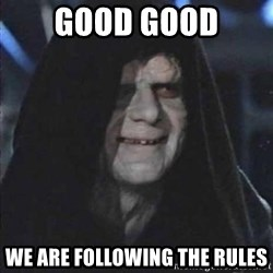 darth sidious mun - Good Good We are following the rules