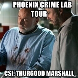 CSI Doctor -      phoenix crime lab tour      csi: thurgood marshall