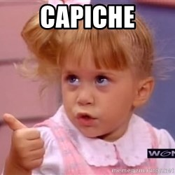thumbs up - Capiche
