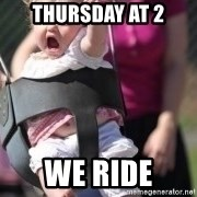 little girl swing - Thursday at 2 we ride