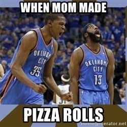Durant & James Harden - when mom made pizza rolls