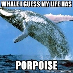 whaleeee - whale i guess my life has  porpoise
