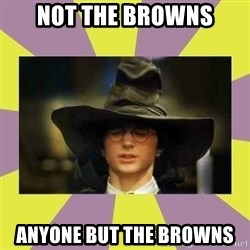 Harry Potter Sorting Hat - Not the browns Anyone But the Browns