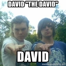 "god of punk rock - david ""the david"" david"