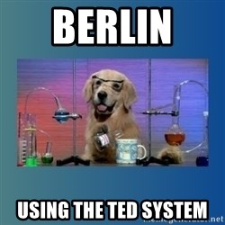 Chemistry Dog - Berlin  using the ted system