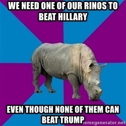 Recovery Rhino - we need one of our rinos to beat hillary even though none of them can beat trump