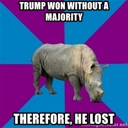 Recovery Rhino - Trump won without a majority therefore, he lost