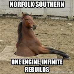 Hole Horse - Norfolk Southern One engine, infinite rebuilds