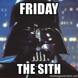 Darth Vader - Friday the sith