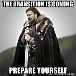 ned stark as the doctor - The Transition is Coming Prepare Yourself