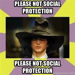 Harry Potter Sorting Hat - Please not social protection Please not social protection