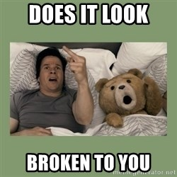 Ted Movie - Does it look  Broken to you