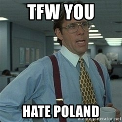 Yeah that'd be great... - tfw you hate poland