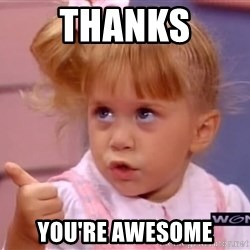 thumbs up - thanks you're awesome