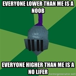Runescape Advice - everyone lower than me is a noob everyone higher than me is a no lifer