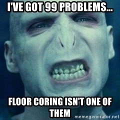 Angry Voldemort - I've got 99 problems... Floor coring isn't one of them