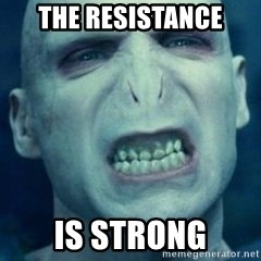 Angry Voldemort - THE RESISTANCE IS STRONG