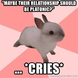 "Roleplay Shipper Bunny - ""maybe their relationship should be platonic?"" ... *cries*"
