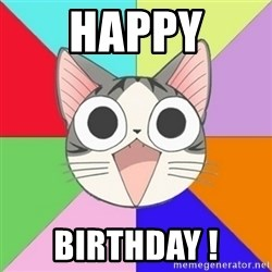 Nya Typical Anime Fans  - Happy Birthday !