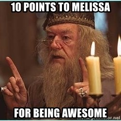 dumbledore fingers - 10 points to melissa for being awesome